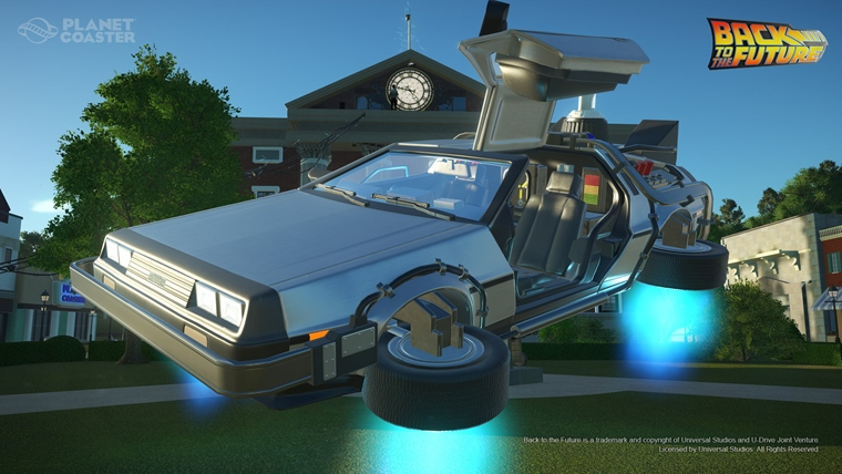 Planet Coaster dostal vozidlá z Back to the Future, Knight Rider a The Munsters