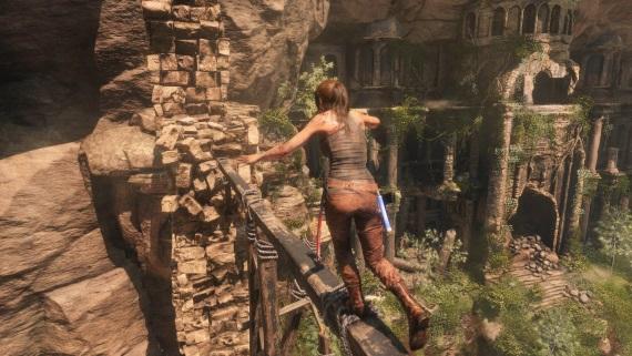 Detaily Rise of the Tomb Raider Xbox One X vylepšení vizuálu