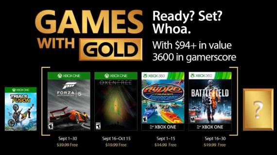 Septembrové Games With Gold ohlásené