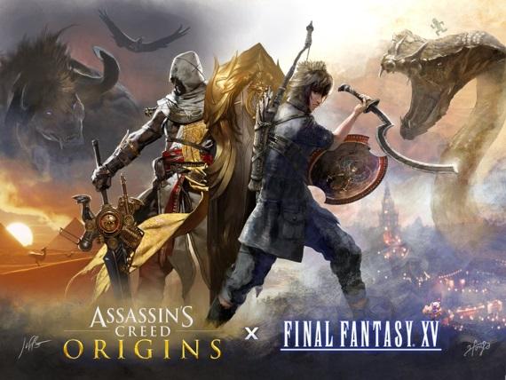 Final Fantasy X a Assassin's Creed Origins hry sa prepájajú, dostanú tématické veci