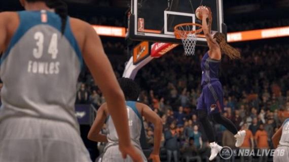 NBA Live 18 po prvý raz ponúkne ženský basketbal