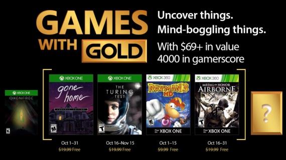 Games With Gold hry na október ohlásené
