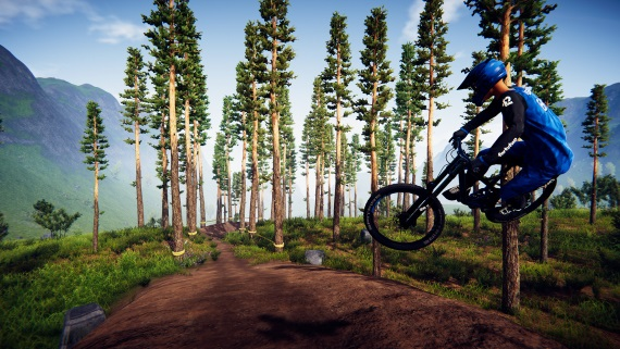 Šialená jazda z kopca v hre Descenders je na dosah bicykla