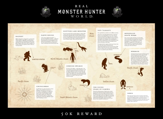 Capcom ponúka 50 000 libier za dôkazy o existencii Bigfoota, Lochneskej príšery a ďalších monštier