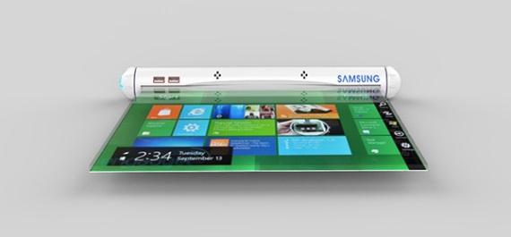 Samsung patent naznačil rolovateľné tablety