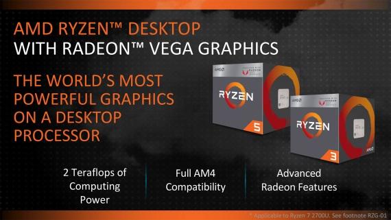 AMD zlacňuje svoje Ryzen procesory, rozširuje ponuku o procesory s VEGA čipom