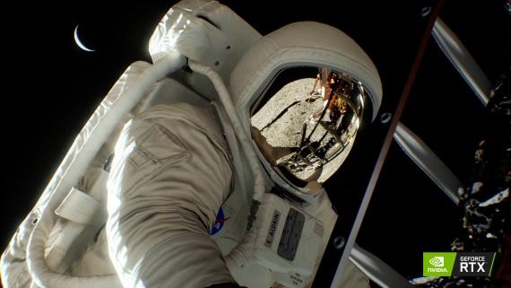 Nvidia ponúkla raytracované zábery z Apollo 11 Moon Landing techdema