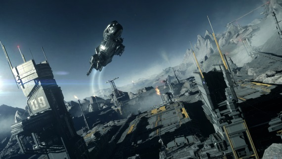 Star Citizen priblížil boje vo vesmíre a možnosti na staniciach