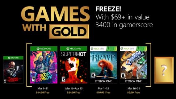 Games With Gold na marec ohlásené