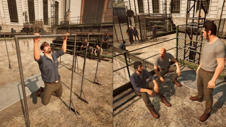 Polhodinový gameplay z titulu A Way Out