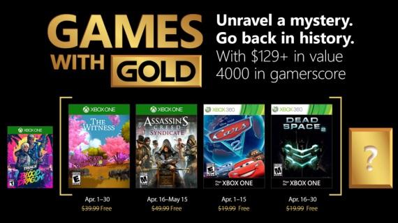 Games with Gold na apríl predstavené
