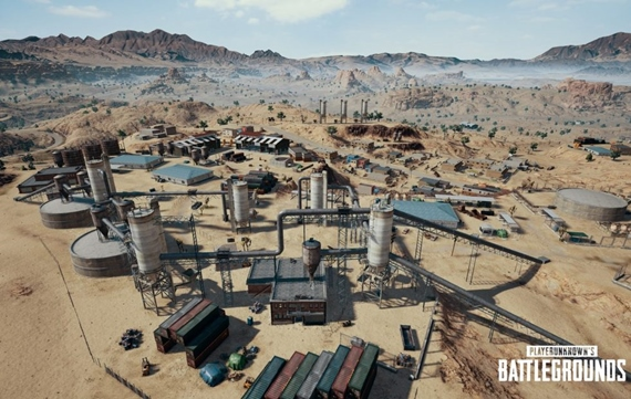 Ukážka púštnej mapy v PUBG Mobile