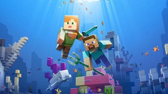 Minecraft dostal prvú časť Aquatic updatu