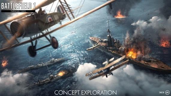Turning Tides expanzia pre Battlefield 1 je dostupná zadarmo