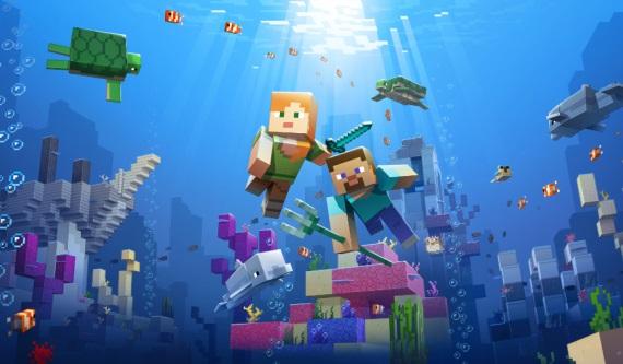 Minecraft dostal druhú časť Aquatic updatu