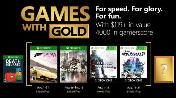 August ponúkne veľké hry v Games with Gold