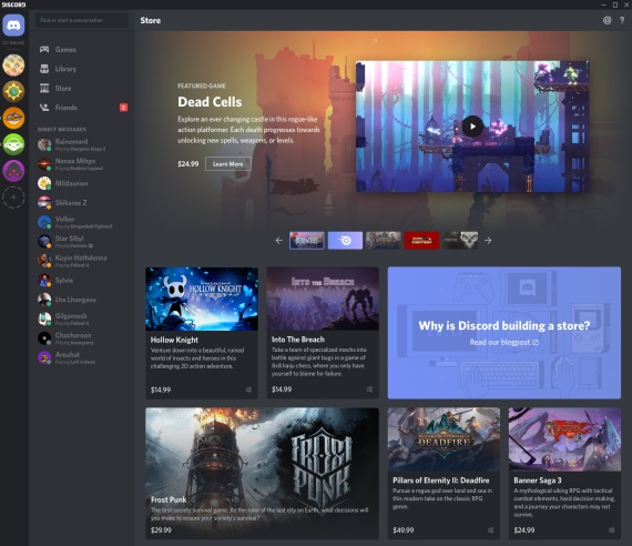 Aj Discord sa už púšťa do predaja digitálnych hier