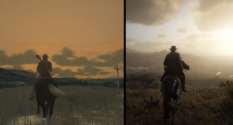 Porovnanie Red Dead Redemption a Red Dead Redemption 2