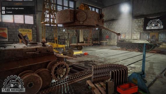 Tank Mechanic Simulator ukazuje deformácie terénu