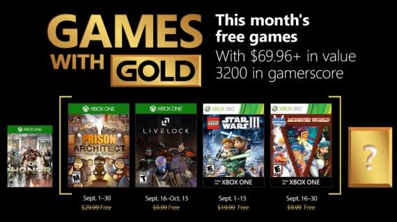 Xbox Live Gold hry na september predstavené