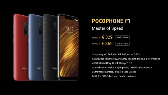 Pocophone F1 prichádza do Európy, ponúkne hi-end za 300 eur