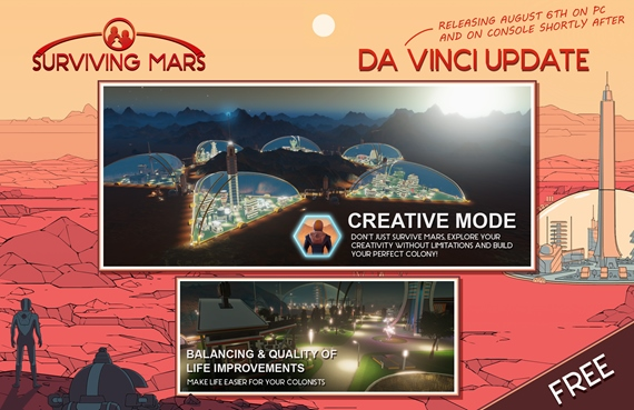 Paradox predstavil dva free updaty pre Surviving Mars