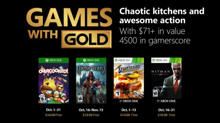 Xbox Live Gold Oktober