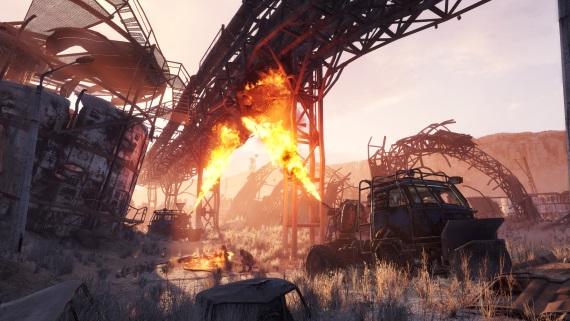 Metro Exodus ukazuje zábery z púštneho prostredia, vyzerá ako Mad Max