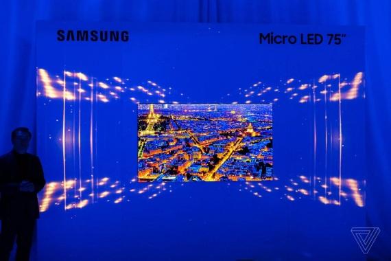 Samsung na CES 2019 ukázal 75 palcovú MicroLED TV