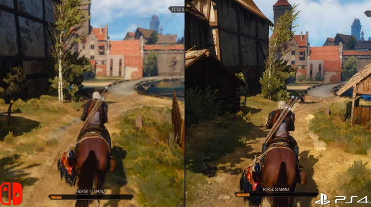 Analýza grafiky na The Witcher 3 na Switchi