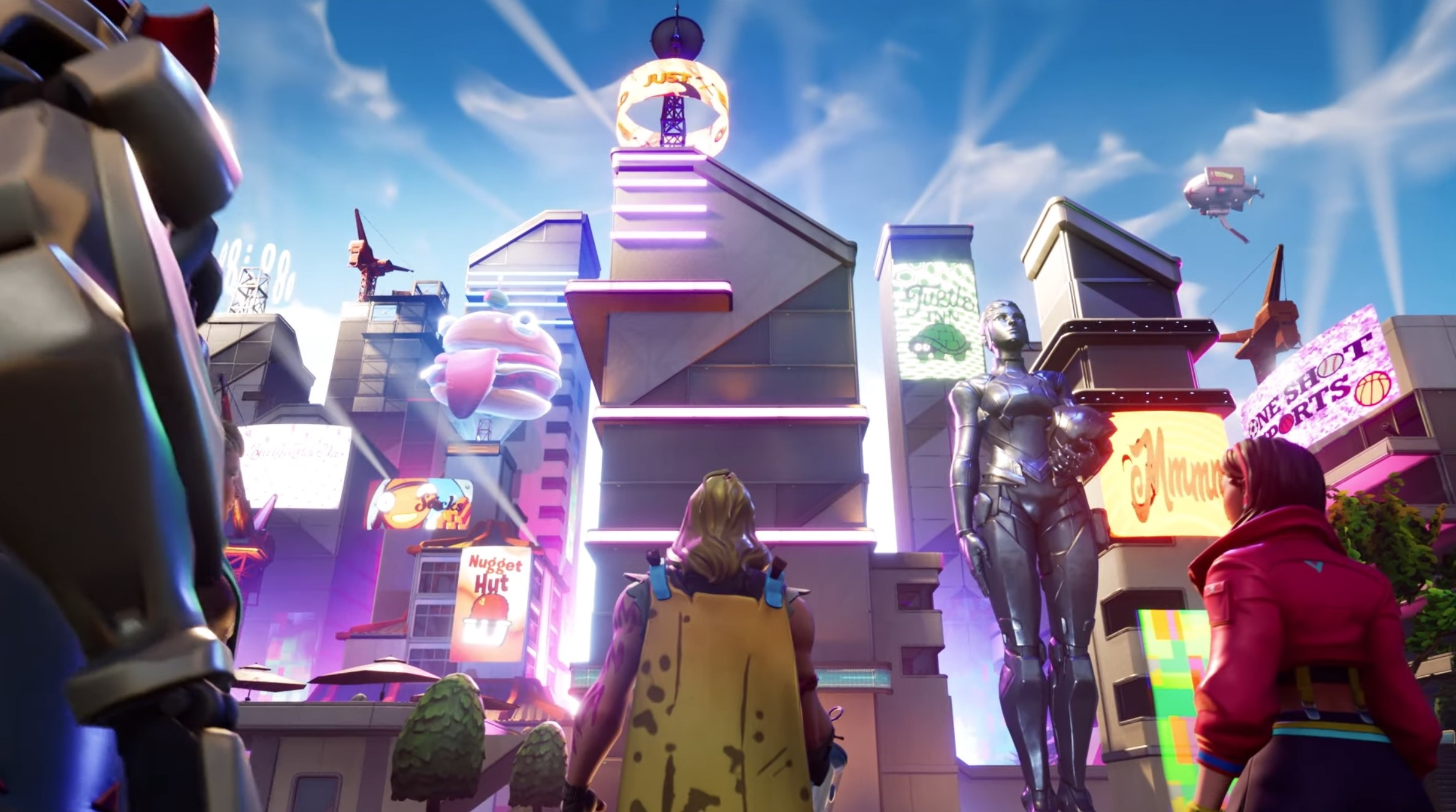 fortnite season 9 prave zacina mapa sa meni na futuristicku - fortnite hraci