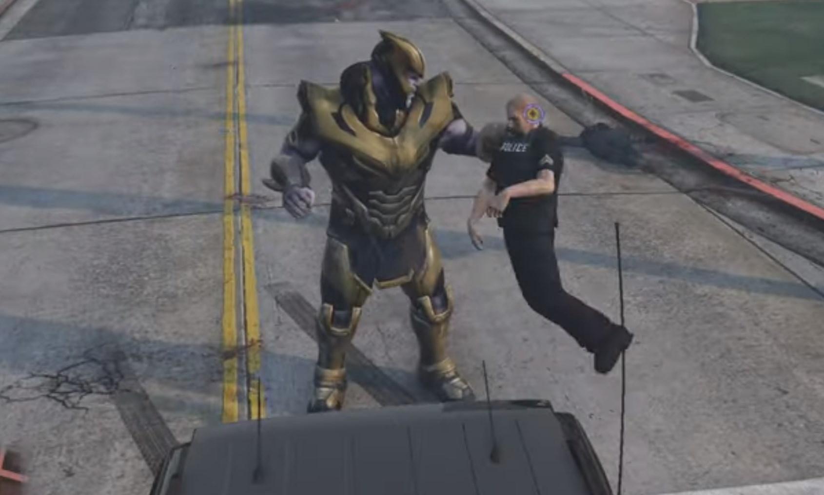 Thanos Fortnite Version Add On Ped Gta5 Mods Com