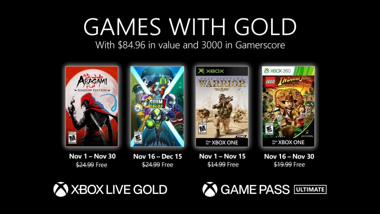 Games with Gold na november ohlásené