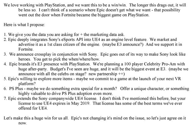 Court documents show that developers have to pay Sony for crossplay, taking a percentage of the game's revenue from other platforms