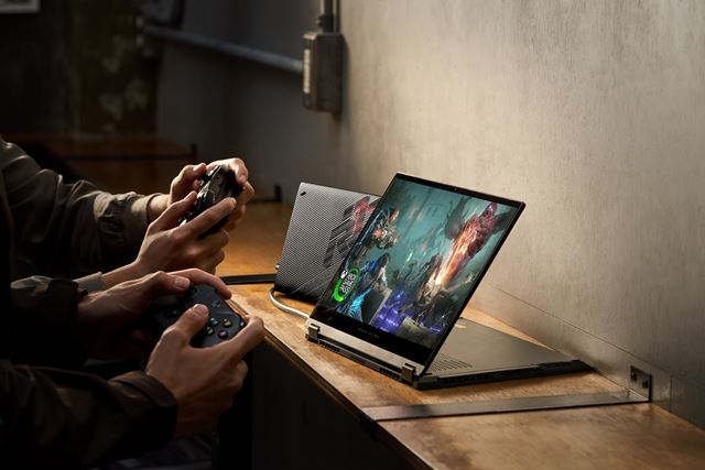 Asus has introduced the ROG Flow X13 with external RTX3080 graphics