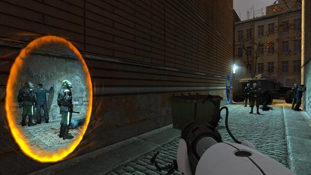 Portálová zbraň v HL2!