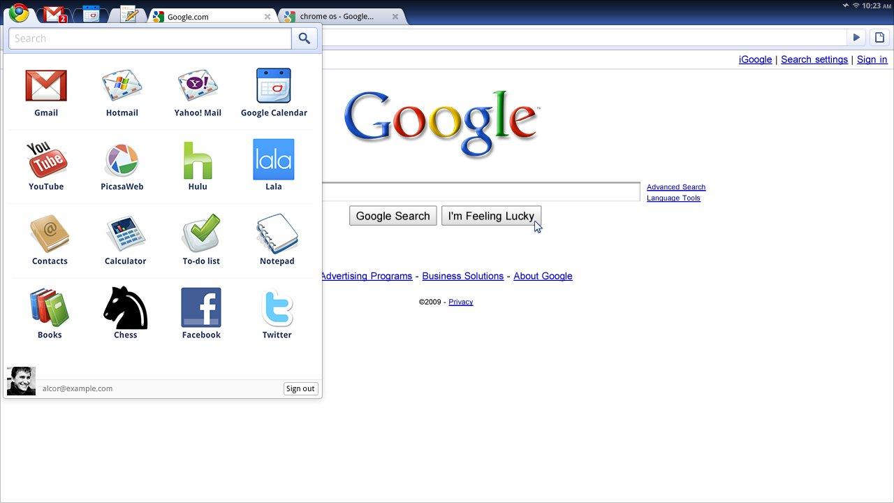 Chrome OS predstavený