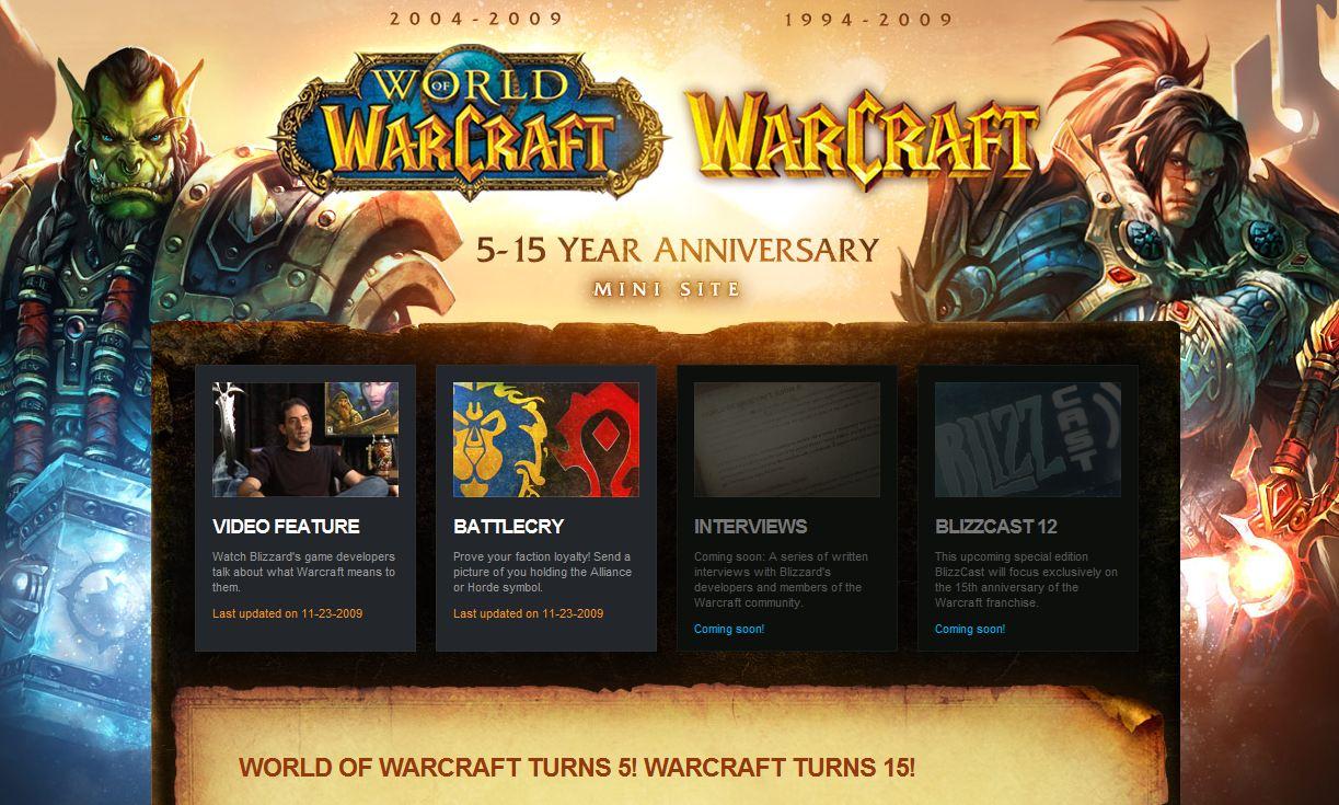 15 rokov s Warcraftom, 5 rokov s WOW