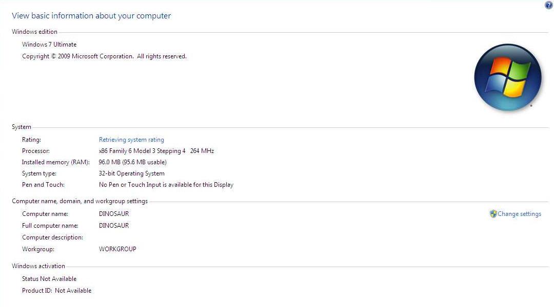 Pokusy s Windows 7