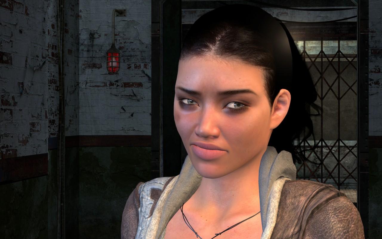 Alyx s modrinami v Cinematic Mode 10 beta 3