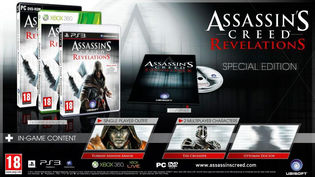 Assassin's Creed: Revelations v dvoch edíciách