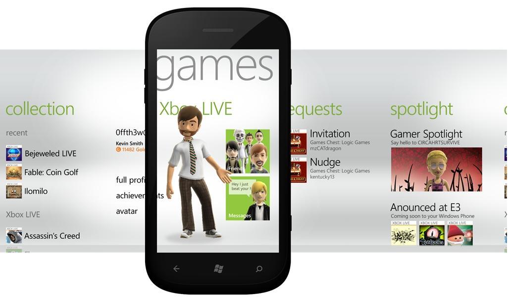 Games hub pre Windows Phone 7.5 predstavený