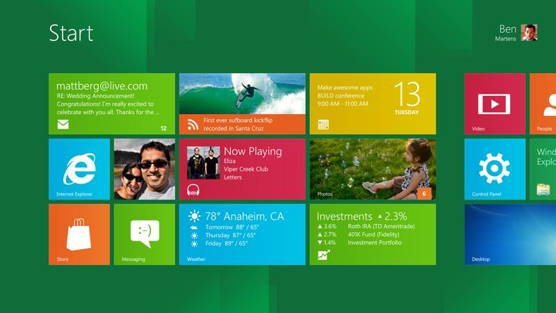 Dojmy z Windows 8