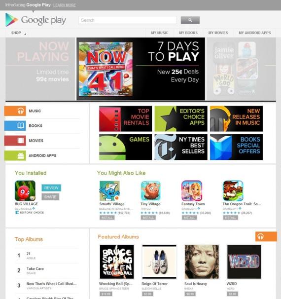Google Play nahradil Android Market