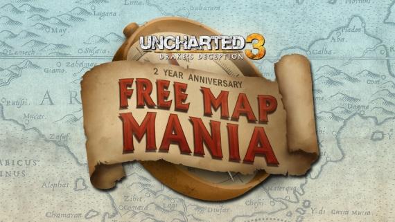 Uncharted 3 vydáva mapy zadarmo