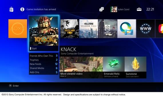 Bližší pohľad na PlayStation 4 menu