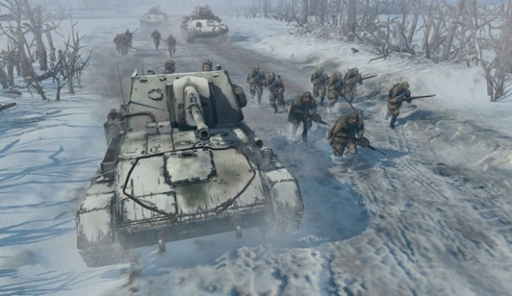 Company of Heroes 2 gameplay z bety