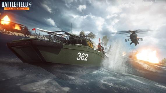 Battlefield 4 Naval Strike DLC predvedené v pohybe