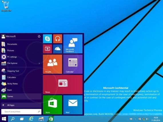 Windows 9 vráti systém na desktop