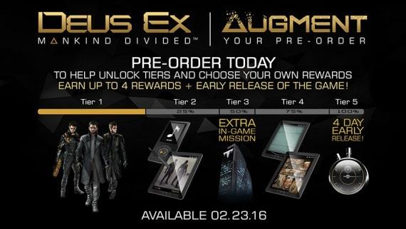 Systém predobjednávkových bonusov pre Deus Ex: Mankind Divided bol zrušený